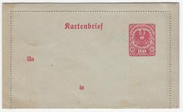 Austria (Deutschösterreich), Postal Stationery Letter Card Unused B170429
