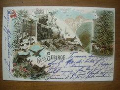 (montagne, Chamois) Gruss Aus Dem Gebirge, 1897, SUP. - Alpinisme