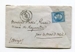 FRANCE- Lettre Sans Correspondance De ARRAS (61)- GC 174- Y&T N°22 - 1862 Napoléon III.
