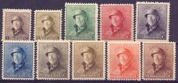 Belgique N° 165-74 Neufs Et Avec Charnière - 1919-1920 Behelmter König