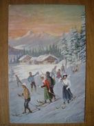 (ski) Ludwig SCHRÖPLER: Skieurs Et Skieuses, 1908, TBE. - Sports D'hiver