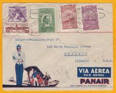 1933 - Enveloppe  Par Avion  PANAIR  De Rio, Brésil Vers Chicago, USA - Affrt 3800 Reis - Cad Arrivée - Airmail (Private Companies)