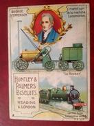 Publicité Biscuits Huntley Palmers Inventeur De La Locomotive Chromo - Publicité