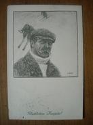(ski) Otto BARTH: Vieux Skieur à Casquette, 1913, TBE. - Sports D'hiver