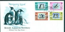 Antarctique Britannique Manchots 78 / 81 S/fdc De 1979 TP Cote 20 € Tb - Brieven En Documenten