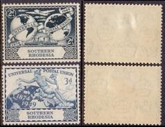 SOUTHERN RHODESIA 1949 76th Anniv Of U.P.U. XF MVLH, SG 68-9 - Stamps