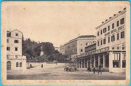 ŠIBENIK - Perivoj , Posta I Hotel Krka ( Croatia ) * Travelled 1932. - Croatia