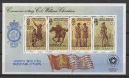 Man 1976 Bicentenaire Indep USA  Flag Drapeaux - Isla De Man