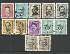 Turkey; 1966 Cultural Celebrities (Complete Set) - 1921-... República