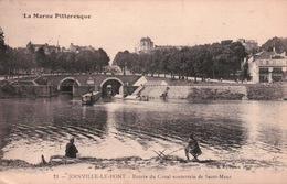CPA 94 JOINVILLE LE PONT Entrée Du Canal Souterrain De Saint Maur , Pécheur , Tampon 83e Régiment D'Artillerie Lourde - Joinville Le Pont