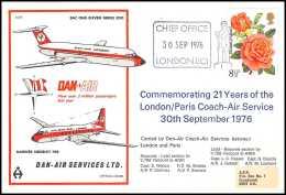 0027 Poste Aérienne Airmail Cover Grande Bretagne Great Britain DAN AIR - Aerei