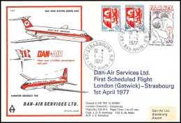 0069 Poste Aérienne (airmail) - FRANCE - DAN AIR BAC ONE 11 - Aerei