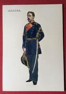 SPAGNA UNIFORMI MILITARI 1862 INFANTERIA DI LINEA  OFICIAL DE LA DIRECCION - GALA -    STAMPA  15x21 - Altri