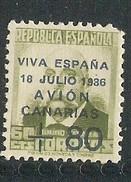 Canarias  Edifil. Nr. 16 Hoekje Rechtsboven - Emisiones Nacionalistas