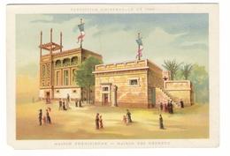 EXPOSITION UNIVERSELLE DE 1889  ( à PARIS ) / MAISON PHENICIENNE - MAISON DES HEBREUX / Grand Chromo Fin 19ème Siècle - Autres