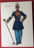 SPAGNA UNIFORMI MILITARI 1862 INFANTERIA DI LINEA  TAMBOR MAYOR  - UNIFORME DE GALA      STAMPA  15x21 - Altri