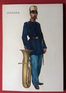 SPAGNA UNIFORMI MILITARI 1862 INFANTERIA DI LINEA  MUSICO - UNIFORME DE DIARIO     STAMPA  15x21 - Altri