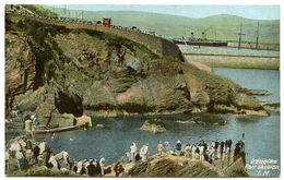 ISLE OF MAN  : DOUGLAS, PORT SKILLION / POSTMARK - STONHAM (SUFFOLK) (SINGLE CIRCLE) - Man (Eiland)