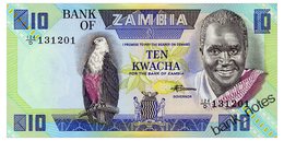 ZAMBIA 10 KWACHA ND(1980-88) Pick 26e Unc - Sambia