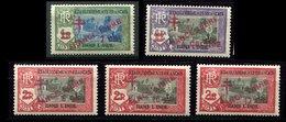 Inde *,n 199 - 201 - 203 - 205 - 206 - Surcharge FRANCE LIBRE - India (1892-1954)