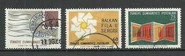 """Turkey ; 1966 """"Balkanfila II"""" Stamp Exhibition - 1921-... República"""