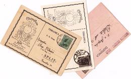 Croatia - Hrvatska, Lot 3 Postal Stationary, Carte Postale, Dopisnice, Sokol_Charitas - Kroatien
