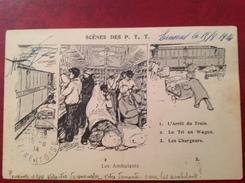 Scène Des PTT Les Ambulants - Train Postal - Postal Services
