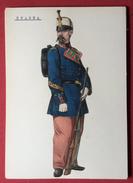 SPAGNA UNIFORMI MILITARI 1862 INFANTERIA  CAZADORES   SERGENTO I  UNIFORME DE GALA     STAMPA  15x21 - Altri