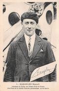 """- 1 - L'Aviateur """" HAEGELEN Marcel """" Président De L'Union Des Pilotes Civils De France - As De Guerre - Aviation - Aviateurs"""