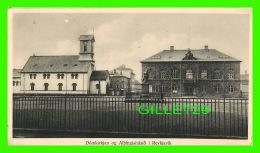 REYKJAVIK - ISLANDE - DOMKIRKJAN OG ALPINGISHUSIO I REVKJAVIK   IN 1930 - DIMENSION  11 X 19 Cm - ANIMATED - - Islande