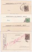 Croatia - Hrvatska, Lot 4 Postal Stationary, Carte Postale, Dopisnice, Split_Spalato - Kroatien