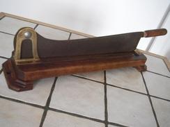 Ancienne Trancheuse à Couper Le Pain Lame Acier Bois Et Laiton - Tools