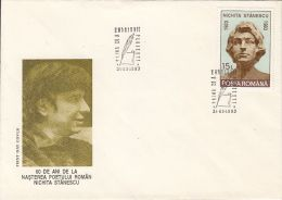 WRITERS, NICHITA STANESCU, COVER FDC, 1993, ROMANIA