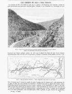 LES CHEMINS DE FER A VOIES ETROITE ( ARDECHE GORGE  DES  ETROITS , Ligne De TOURNON à LAMASTRE ) 1891 - Auvergne