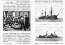 """LA MARINE FRANCAISE  """" LA DIVISION CUIRASSEE DU NORD à CRONSTADT  LE  ( MARENGO Et Le FURIEUX )  1891 - Boten"""