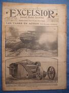 WWI . EXCELSIOR . 1916 : FLANDRES . GRECE . MANFREDINI . ROUMAINS . CHARS . GRENADES ALLEMANDES . JOUETS FRANCAIS ..Etc - Books, Magazines, Comics