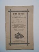 Bidprentje  Gustaaf Vandensteen Dendermonde 1835-1899 Oud Volksvertegenwoordiger + Lijkreden 16 Blz.