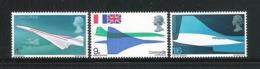 GRAN BRETAGNA - 1969 - 3 VALORI NUOVI STL - AEREO SUPERSONICO CONCORDE - IN OTTIME CONDIZIONI. - 1952-.... (Elizabeth II)