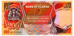 UGANDA 200 SHILLINGS 1987 Pick 32a Unc - Uganda