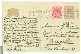 HANDGESCHREVEN BRIEFKAART Uit 1922  GELOPEN Van DEN HAAG Naar BRUXELLES * NVPH 60 + VOORDRUK  (10.623L) - Brieven En Documenten