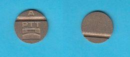 VINTAGE TELEPHONE TOKEN  A  ( Slovenia Ex Yugoslavia ) Jeton Ficha Spielmarke Gettone Counter Telephones Phone Telefono - Tokens & Medals