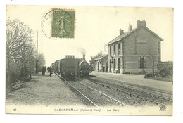 78 GARGENVILLE GARE TRAIN CHEMIN DE FER LOCOMOTIVE YVELINES - Gargenville