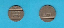 VINTAGE TELEPHONE TOKEN  A - ISKRA ( Slovenia Ex Yugoslavia ) Jeton Ficha Spielmarke Gettone Telephones Phone Telefono - Tokens & Medals