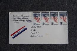 Enveloppe Envoyée, Poste Aérienne, Des ETATS UNIS à TOULON - Cartas