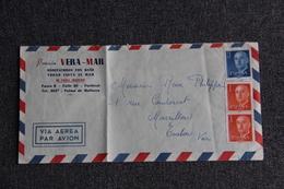 Enveloppe Envoyée , Poste Aérienne, De La Pension VERA MAR , PALMA DE MAJORCA à TOULON . - Cartas