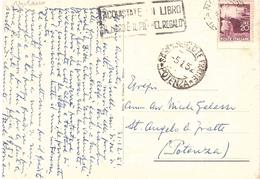 ANN.TARGHETTA ACQUISTATE UN LIBRO....SU CARTOLINA MILANO LA SCALA SANT.ANGELO LE FRATTE POTENZA - 1946-60: Poststempel