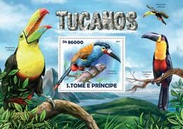 SAO TOME E PRINCIPE 2015 SHEET TOUCANS TUCANES AVES BIRDS OISEAUX UCCELLI PASSAROS St15216b - Sao Tomé Y Príncipe