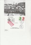 CARTE VENISSIEUX -25 EME ANNIVERSAIRE UNION LOCALE CGT -ANNEE 1985 - Sindacati