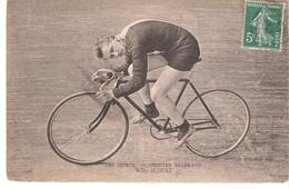 "Cyclisme Sur Piste-Vélodrome-Sport Cycliste-Sprinter Allemand Willy Schulz-Vélo D'époque +/-1910-série ""Les Sports"" - Cyclisme"