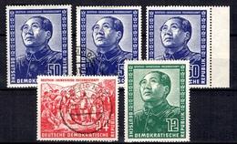 Allemagne/RDA Série Mao YT N° 38/40 Neufs **/* Et Oblitérés. B/TB. A Saisir!